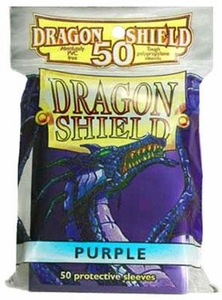 Dragon Shield Card Supplies Standard Card Sleeves Purple [50 Count]