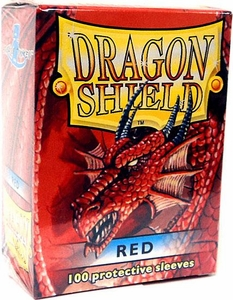 Dragon Shield Card Supplies Standard Card Sleeves Red [100 Count]