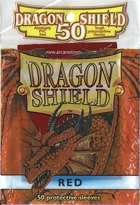 Dragon Shield Card Supplies Standard Card Sleeves Red [50 Count]