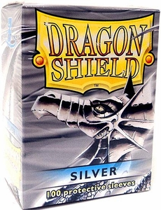 Dragon Shield Card Supplies Standard Card Sleeves Silver [100 Count]