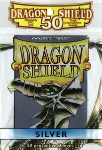 Dragon Shield Card Supplies Standard Card Sleeves Silver [50 Count]