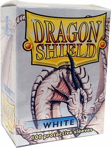Dragon Shield Card Supplies Standard Card Sleeves White [100 Count]
