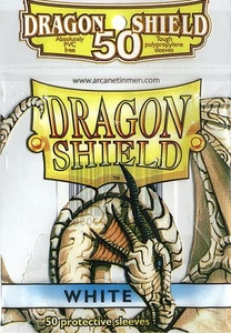 Dragon Shield Card Supplies Standard Card Sleeves White [50 Count]