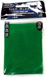 Max Protection Card Supplies Standard Card Sleeves Flat Green [50 Count]