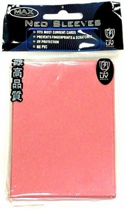 Max Protection Card Supplies Standard Card Sleeves Flat Pink [50 Count]