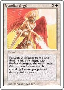Magic the Gathering Revised Edition Single Card Common Guardian Angel