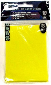 Max Protection Card Supplies Standard Card Sleeves Flat Yellow [50 Count]