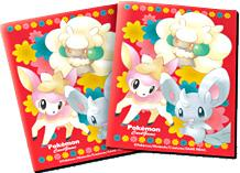 Pokemon JAPANESE Black & White Card Supplies Standard Card Sleeves Red Minccino [32 Sleeves]