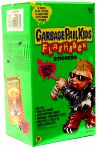 Topps Garbage Pail Kids Flashback Series 1 Trading Card Stickers Value Box [5 Packs Plus 1 Extra 6-Card Pack with Bonus Sticker]