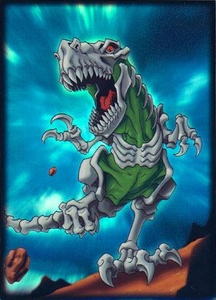 Max Protection Card Supplies Standard Card Sleeves Skeleton T-Rex  [50 Count]