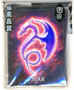 Max Protection Card Supplies Standard Card Sleeves Tribal Dragon [Purple Dragon, Red Background] [50 Count]