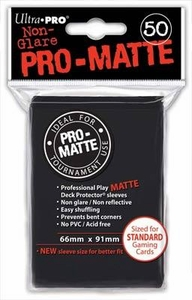 Ultra Pro Card Supplies STANDARD Card Sleeves Non Glare Pro-Matte Black [50 Sleeves]
