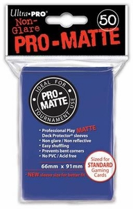 Ultra Pro Card Supplies STANDARD Card Sleeves Non Glare Pro-Matte Blue [50 Sleeves]