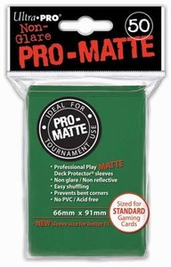 Ultra Pro Card Supplies STANDARD Card Sleeves Non Glare Pro-Matte Green [50 Sleeves]