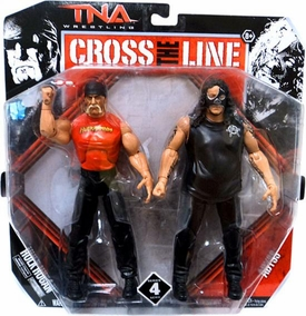 TNA Wrestling Cross the Line Series 4 Action Figure 2-Pack Hulk Hogan & Abyss