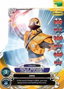 Power Rangers Action Card Game Guardians of Justice Single Card Ultra Rare 2-089 Gold Ranger (Mega Mode)