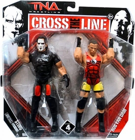 TNA Wrestling Cross the Line Series 4 Action Figure 2-Pack Sting & Rob Van Dam [RVD]