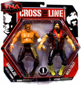 TNA Wrestling Cross the Line Series 1 Action Figure 2-Pack Somoa Joe & Mick Foley