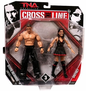 TNA Wrestling Cross the Line Series 3 Action Figure 2-Pack Dr. Stevie Richards & Daffney