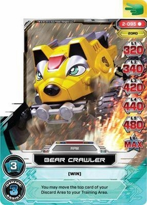 Power Rangers Action Card Game Guardians of Justice Single Card Rare 2-095 Bear Crawler