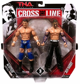 TNA Wrestling Cross the Line Series 3 Action Figure 2-Pack AJ Styles & Jeff Hardy
