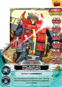 Power Rangers Action Card Game Guardians of Justice Single Card Super Rare 2-097 Paleomax Megazord