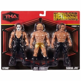 TNA Wrestling Genesis Action Figure 3-Pack Sting, Jeff Jarret & Samoa Joe