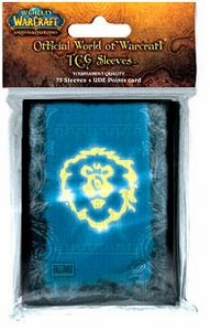 Ultra Pro World of Warcraft WoW Card Supplies Alliance Sleeves [75 Count]