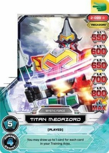 Power Rangers Action Card Game Guardians of Justice Single Card Super Rare 2-099 Titan Megazord
