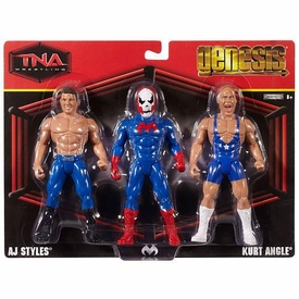 TNA Wrestling Genesis Action Figure 3-Pack AJ Styles, Suicide & Kurt Angle