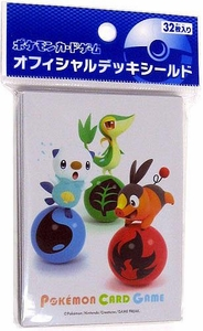 Pokemon Black & White JAPANESE Card Supplies Standard Card Sleeves Snivy Tepig & Oshawott [32 Sleeves]