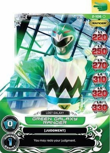 Power Rangers Action Card Game Guardians of Justice Single Card Common 2-106 Green Galaxy Ranger