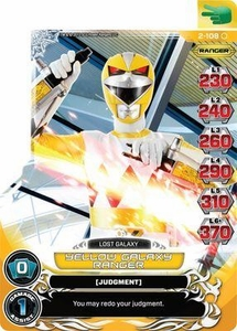 Power Rangers Action Card Game Guardians of Justice Single Card Common 2-108 Yellow Galaxy Ranger