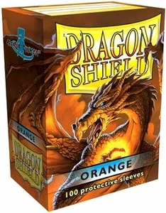 Dragon Shield Card Supplies Standard Card Sleeves Orange [100 Count]
