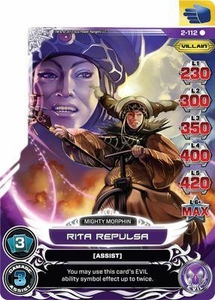 Power Rangers Action Card Game Guardians of Justice Single Card Rare 2-112 Rita Repulsa