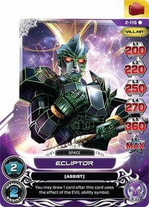 Power Rangers Action Card Game Guardians of Justice Single Card Rare 2-115 Ecliptor