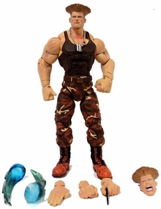 Sota Toys Street Fighter Series 3 Exclusive Action Figure LOOSE Guile [Brown]