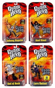 McFarlane Toys Guitar Hero Set of 4 Action Figures [Random Paint Jobs]