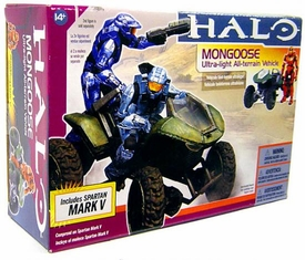 Halo McFarlane Toys Deluxe Vehicle Box Set Mongoose with Orange Spartan Soldier Mark V
