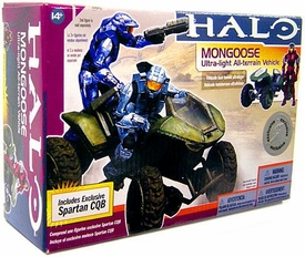 Halo McFarlane Toys Deluxe Vehicle Box Set Mongoose with Crimson & Steel CQB