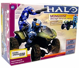 Halo McFarlane Toys Deluxe Vehicle Box Set Mongoose with Cyan EOD