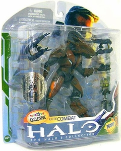 Halo 3 McFarlane Toys Series 5 [2009 Wave 2] Exclusive Action Figure BROWN Elite Combat [Dual Plasma Rifles & Trip Mine]