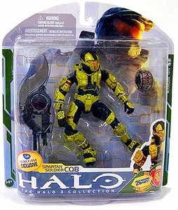 Halo 3 McFarlane Toys Series 5 [2009 Wave 2] Exclusive Action Figure GOLD Spartan Soldier CQB [Brute Shot and Radar Jammer] COLLECTOR'S CHOICE!