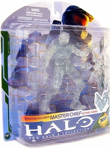 Halo 3 McFarlane Toys Series 5 [2009 Wave 2] Action Figure Master Chief Active Camo [Twin SMG's & Gravity Lift]
