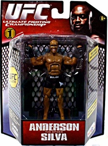UFC Bring It On Build the Octagon Exclusive 3 3/4 Inch Series 1 Action Figure Anderson Silva