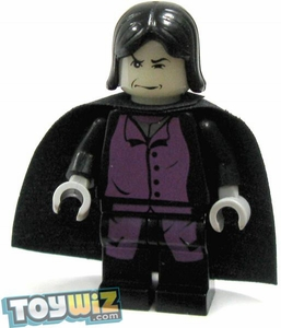 LEGO Harry Potter LOOSE Mini Figure Professor Severus Snape with Black Cape [GitD Face]