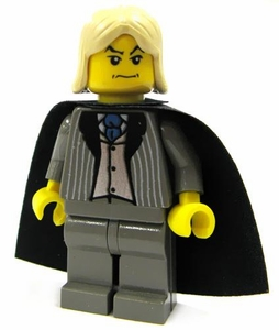 LEGO Harry Potter LOOSE Mini Figure Lucius Malfoy with Black Cape Yellow Flesh