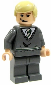 LEGO Harry Potter LOOSE Mini Figure Draco in Slytherin Sweater Light Flesh