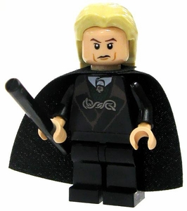 LEGO Harry Potter LOOSE Mini Figure Lucius Malfoy in with Cape & Wand