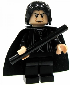 LEGO Harry Potter LOOSE Mini Figure Severus Snape with Cape & Black Wand [Light Flesh] Light Flesh